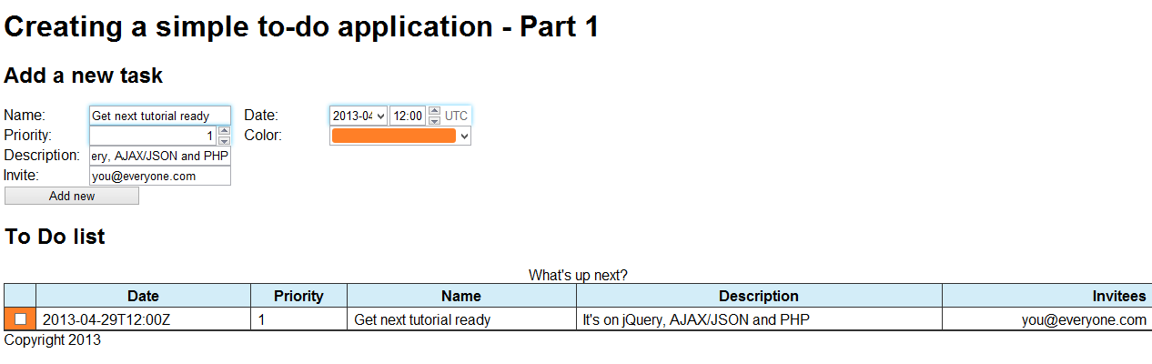 Jquery append to tbody phpsourcecode net for Table thead tbody